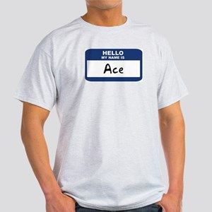 Hello: Ace Ash Grey T-Shirt